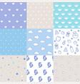 set bapatterns seamless pattern vector image vector image
