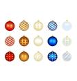set color xmas balls vector image vector image