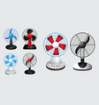 set electric fan vector image vector image