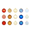 Set of color Xmas balls vector image vector image