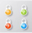 set of colored coat hangers on the door to remind vector image vector image