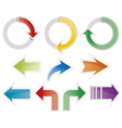 Set of colorful arrow symbols vector image vector image