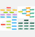 set of four colorful business structure concept vector image