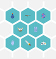 set of gaming icons flat style symbols with vector image