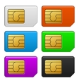 Sim Card Color Set vector image vector image