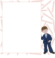 Student boy with list of space for text vector image vector image