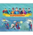 Superhero Team Banners Set vector image vector image