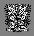 the contour of the mandala on a white background vector image vector image