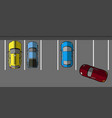 top view of a parking vector image vector image