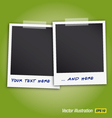 Two polaroids vector | Price: 1 Credit (USD $1)