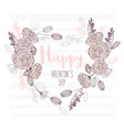 valentines day hand drawn greeting card heart vector image vector image
