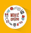 video online design vector image