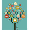 Web marketing business tree plan vector image vector image