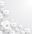 White Paper Flowers vector image