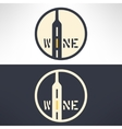 wine shop logo in modern flat design Wine vector image vector image