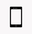 Flat icon of smartphone vector image