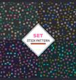 set stick pattern set of four seamless textures vector image