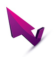 3d abstract symbol with an arrow in the shape of vector image vector image