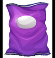 A purple bag with an empty label vector image