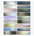 Abstract hexagonal headers set blurred design vector image vector image