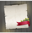 Antique background with red ribbon vector image