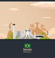 banner travel to brazil rio de janeiro poster vector image vector image