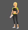 beautiful fit woman posing vector image