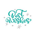 best wishes christmas vintage calligraphy vector image vector image
