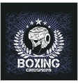 Boxing Champion - Vintage artwork for t vector image vector image