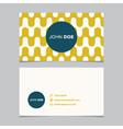 business card pattern yellow 07 vector image vector image