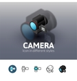Camera icon in different style vector image vector image