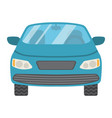 car flat icon transport and automobile sedan vector image