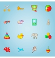 Children toy icons set cartoon style vector image vector image