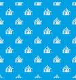circus tent pattern seamless blue vector image vector image