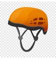 climbing helmet icon cartoon style vector image
