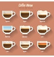 Coffee menu icon vector image vector image