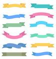 colorful ribbon set design elements vector image vector image