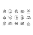 commercial service logistic delivery icons thick vector image