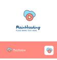 creative cloud play logo design flat color logo vector image