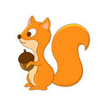 cute cartoon squirrel forest animals woodlan vector image