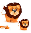 cute standing and smiling cartoon balion vector image vector image