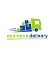 delivery truck flat icon isolated on white vector image