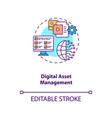 digital asset management concept icon