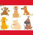 dogs or puppies animal characters set vector image vector image