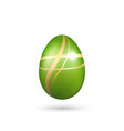 easter egg 3d icon green gold egg isolated white vector image vector image