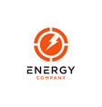 energy chart logo design vector image vector image