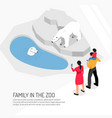 family in zoo isometric vector image vector image