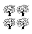 family tree genealogical silhouette vector image vector image