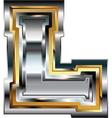 Fancy font Letter L vector image vector image