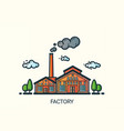 flat line factory vector image vector image